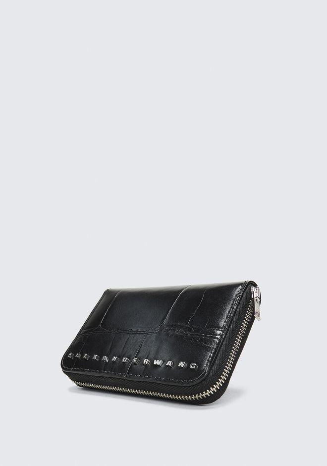 ALEXANDER WANG BLACK DIME COMPACT WALLET SMALL LEATHER GOOD Adult 12_n_e