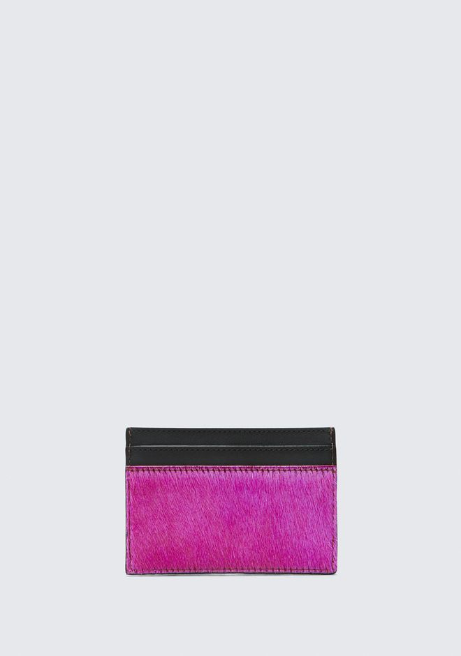 ALEXANDER WANG FUSHSIA DIME CARD CASE SMALL LEATHER GOOD Adult 12_n_d