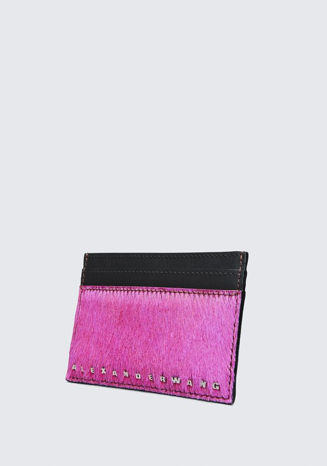 ALEXANDER WANG FUSHSIA DIME CARD CASE SMALL LEATHER GOOD Adult 12_n_e