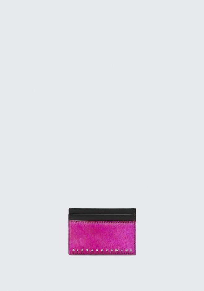 ALEXANDER WANG FUSHSIA DIME CARD CASE 가죽 소품 Adult 12_n_f