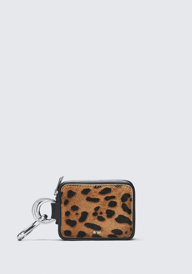ALEXANDER WANG LEOPARD ZIP KEYCHAIN SMALL LEATHER GOOD Adult 12_n_f