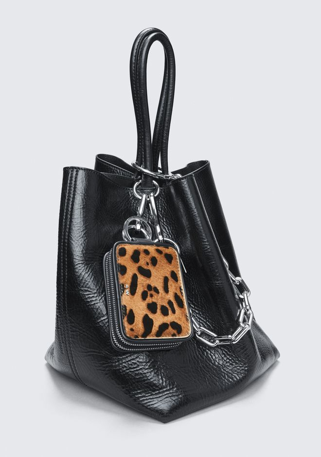 ALEXANDER WANG LEOPARD ZIP KEYCHAIN SMALL LEATHER GOOD Adult 12_n_r