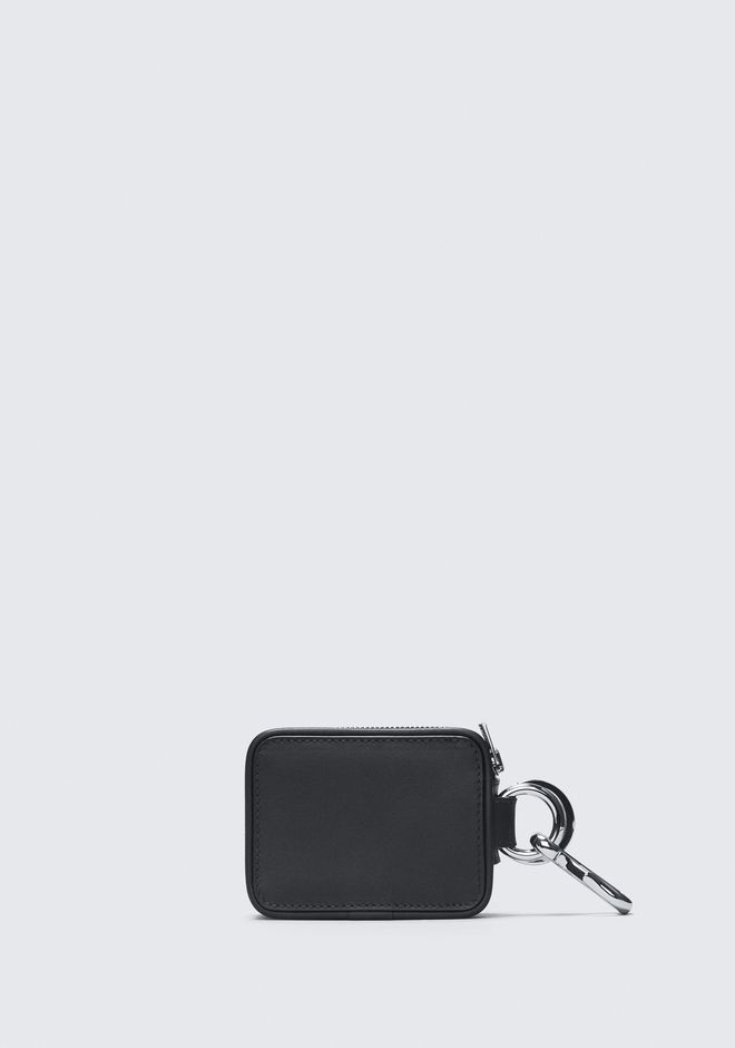 ALEXANDER WANG BLACK ZIP KEYCHAIN SMALL LEATHER GOOD Adult 12_n_a