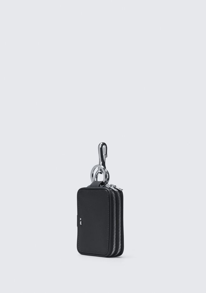 ALEXANDER WANG BLACK ZIP KEYCHAIN SMALL LEATHER GOOD Adult 12_n_d