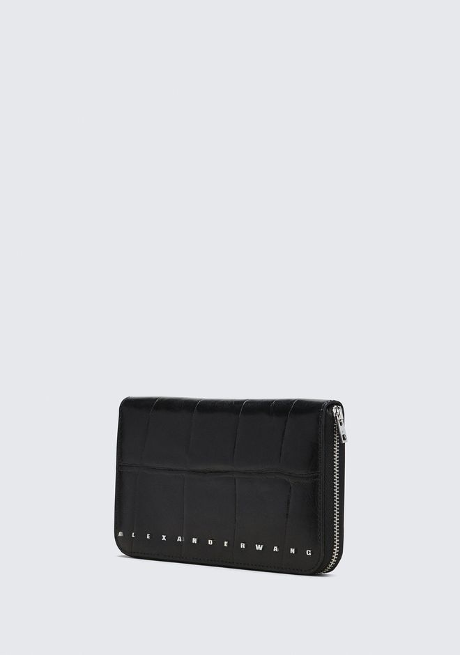ALEXANDER WANG BLACK DIME CONTINENTAL WALLET SMALL LEATHER GOOD Adult 12_n_a
