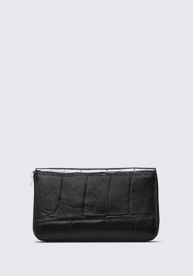 ALEXANDER WANG BLACK DIME CONTINENTAL WALLET SMALL LEATHER GOOD Adult 12_n_d