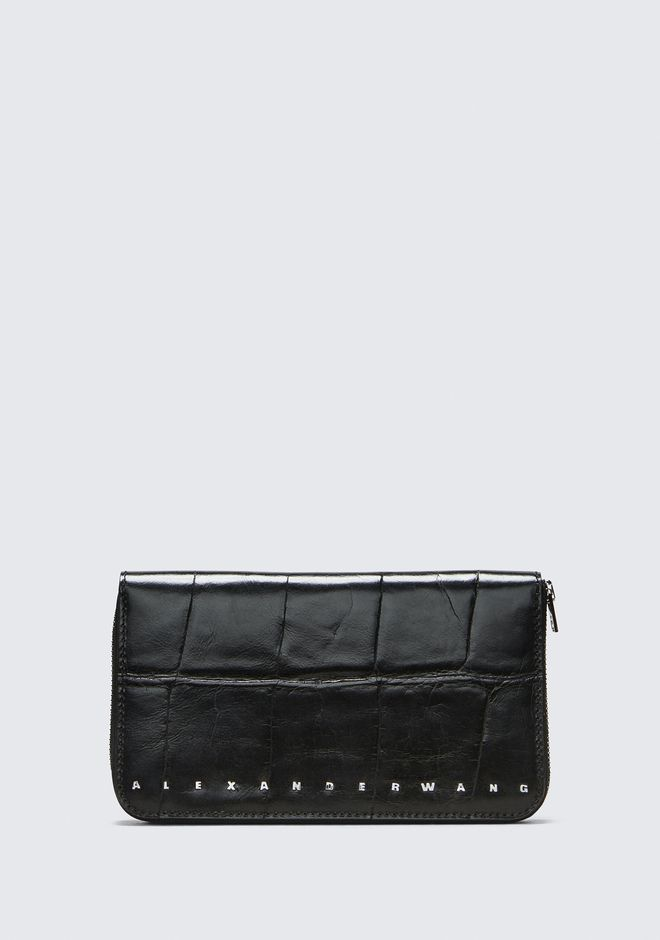 ALEXANDER WANG BLACK DIME CONTINENTAL WALLET SMALL LEATHER GOOD Adult 12_n_f