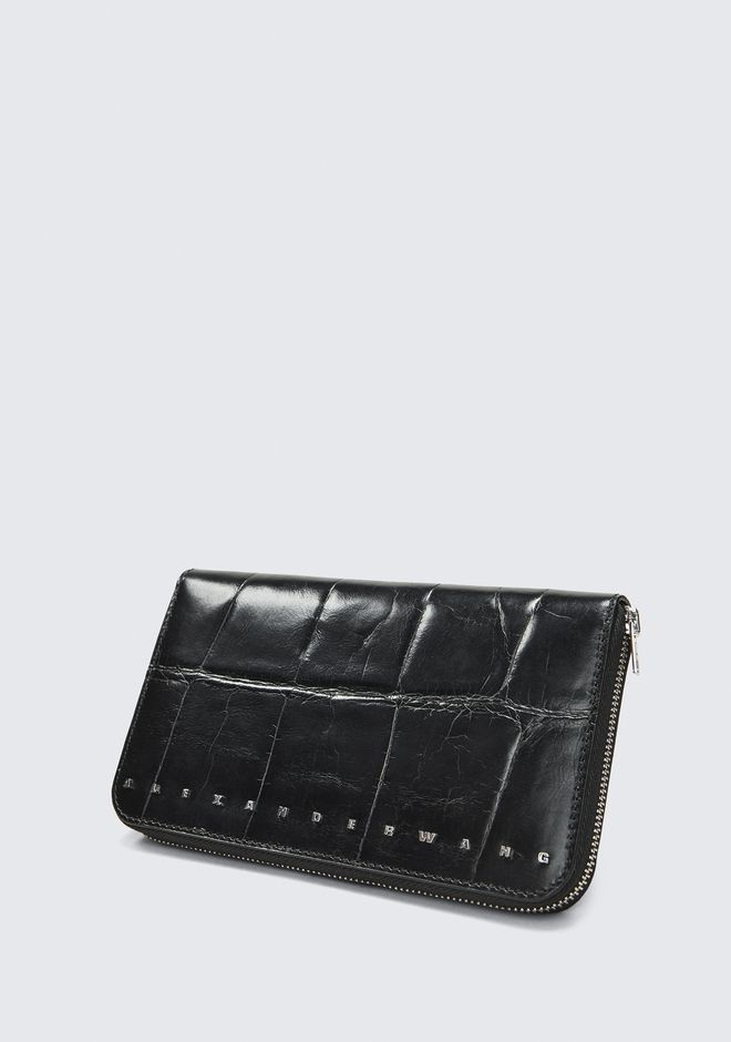 ALEXANDER WANG BLACK DIME CONTINENTAL WALLET SMALL LEATHER GOOD Adult 12_n_r