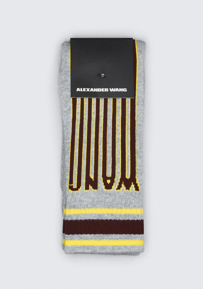 ALEXANDER WANG mens-new-apparel BARCODE LOGO SOCK