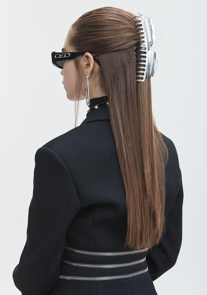 ALEXANDER WANG SILVER HAIR CLIP Accessories Adult 12_n_d