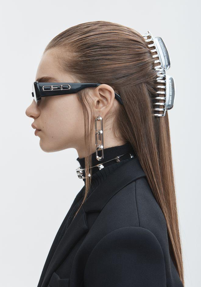 ALEXANDER WANG SILVER HAIR CLIP Accessories Adult 12_n_r