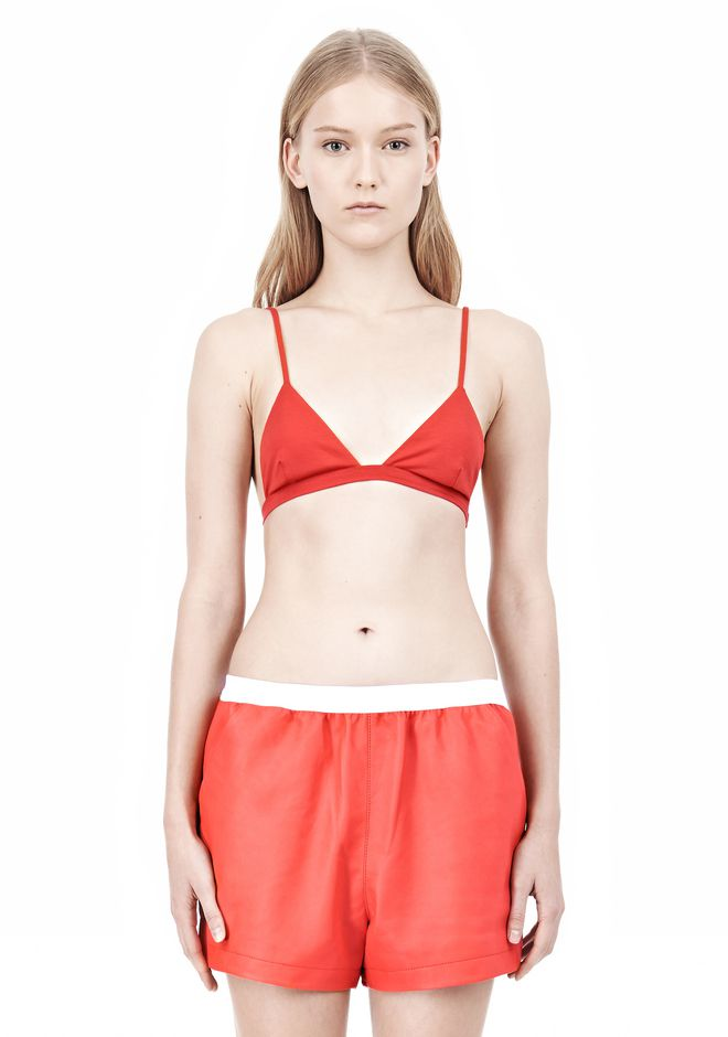 T by ALEXANDER WANG LUX PONTE TRIANGLE BRA TOP Adult 12_n_e
