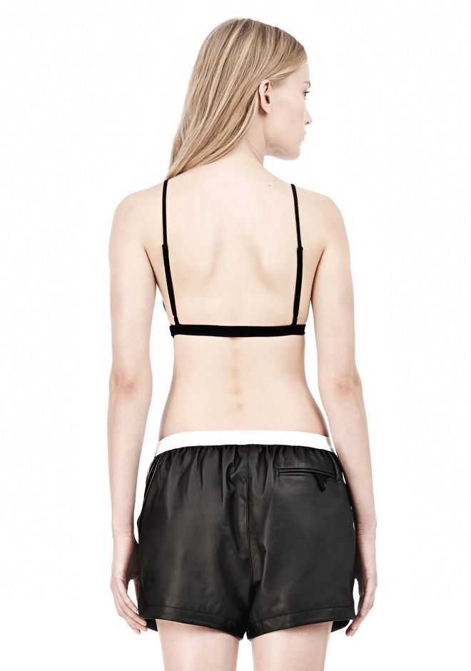 T by ALEXANDER WANG LUX PONTE TRIANGLE BRA TOP Adult 12_n_d