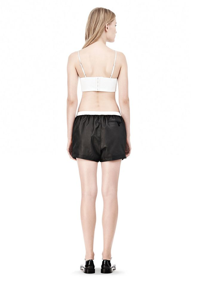 T by ALEXANDER WANG MATTE LAMB TRIANGLE BRALETTE TOP Adult 12_n_r
