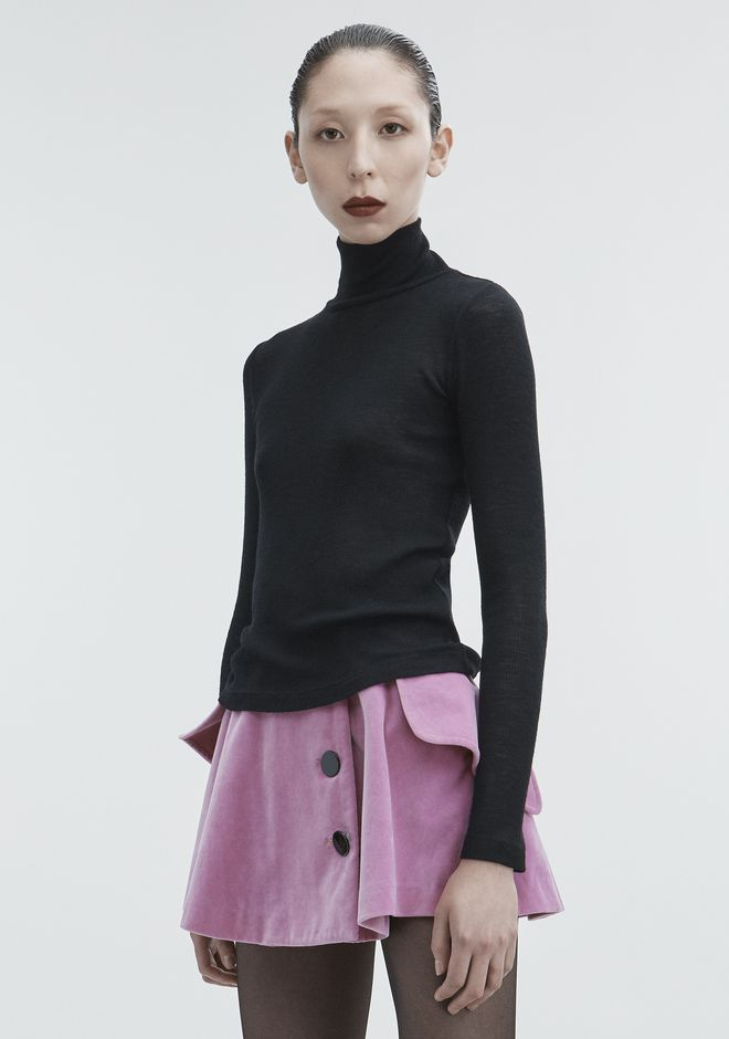 T by ALEXANDER WANG RIBBED TURTLENECK HAUTS Adult 12_n_a