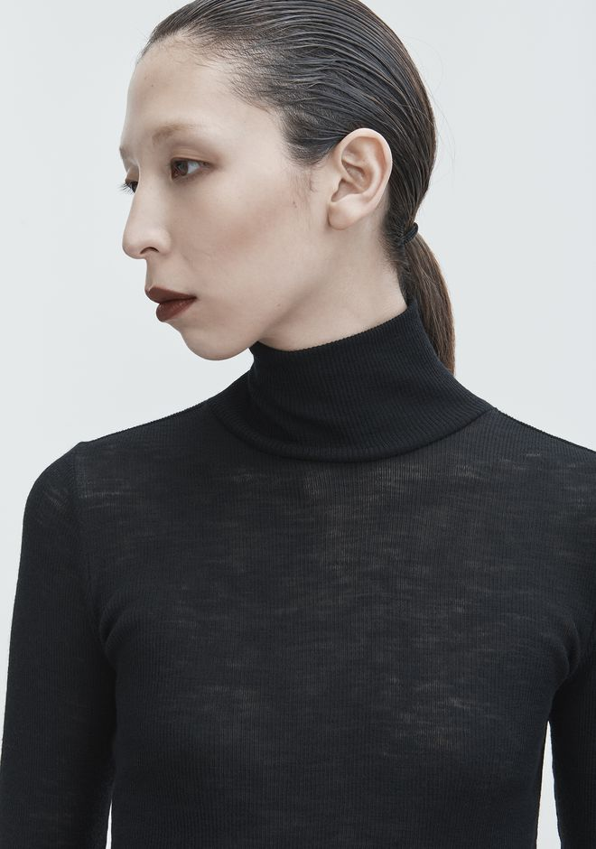 T by ALEXANDER WANG RIBBED TURTLENECK TOP Adult 12_n_r
