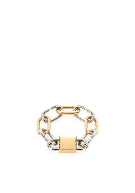 BROKEN LINK DOUBLE LOCK BRACELET