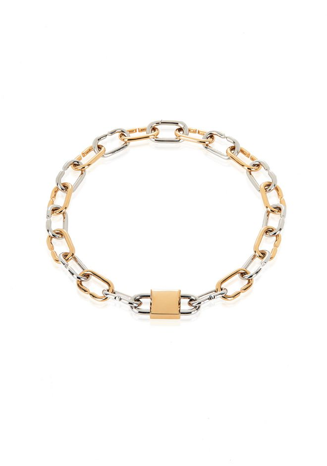 ALEXANDER WANG slccfww BROKEN LINK DOUBLE LOCK NECKLACE