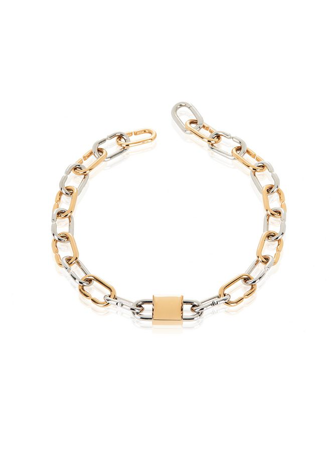 ALEXANDER WANG BROKEN LINK DOUBLE LOCK NECKLACE 首饰 Adult 12_n_r