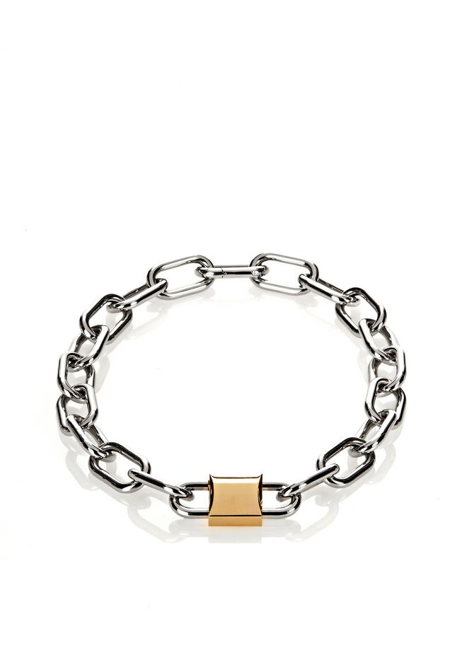 ALEXANDER WANG slccfww DOUBLE LOCK NECKLACE