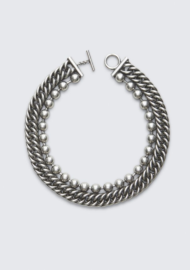 ALEXANDER WANG BALL CHAIN STACKED NECKLACE Jewellery Adult 12_n_r
