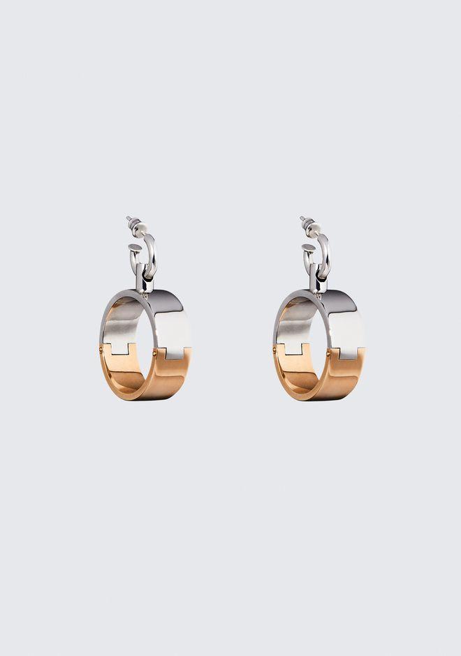 ALEXANDER WANG jewelry BI-COLOR HOOP EARRINGS