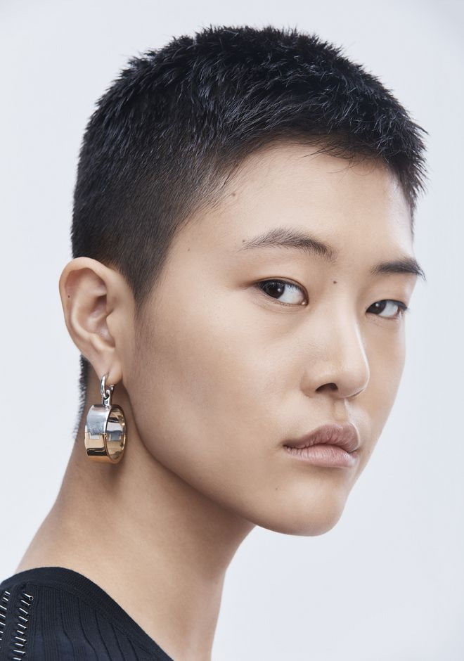 ALEXANDER WANG BI-COLOR HOOP EARRINGS  Jewelry Adult 12_n_a