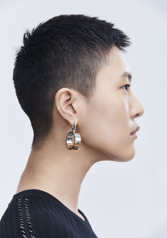 ALEXANDER WANG BI-COLOR HOOP EARRINGS  Jewelry Adult 12_n_r