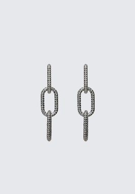 DIAMANTE BIKE LINK EARRING