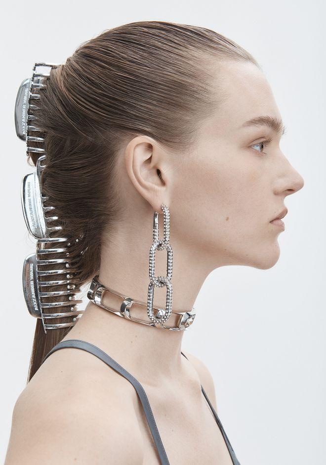 ALEXANDER WANG DIAMANTE BIKE LINK EARRING  Jewelry Adult 12_n_d