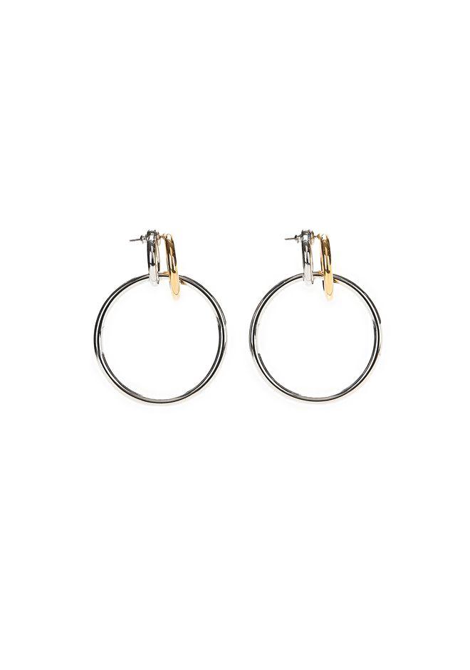 ALEXANDER WANG MIXED METAL TRIPLE HOOP EARRINGS Jewelry Adult 12_n_e