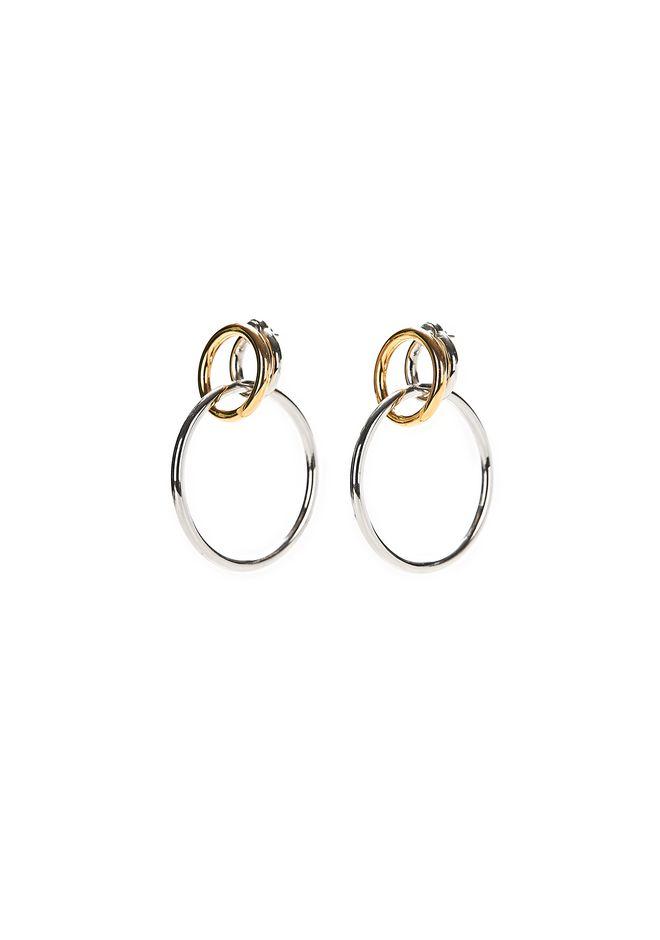 ALEXANDER WANG MIXED METAL TRIPLE HOOP EARRINGS Jewelry Adult 12_n_f
