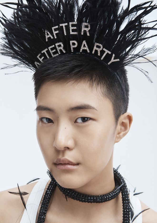 Alexander Wang Stephen Jones X Aw After Party Headband In Black ... 8a2e69b6309